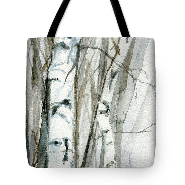 Winter Birch Tote Bag