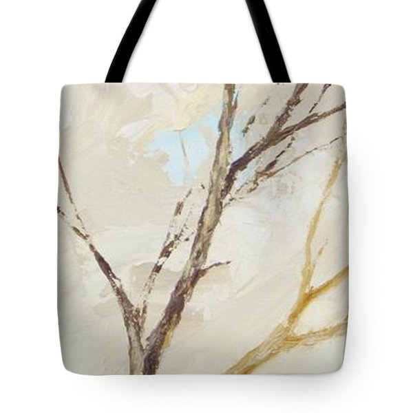 Tote Bag featuring the painting Winter Birds 1 by Dina Dargo