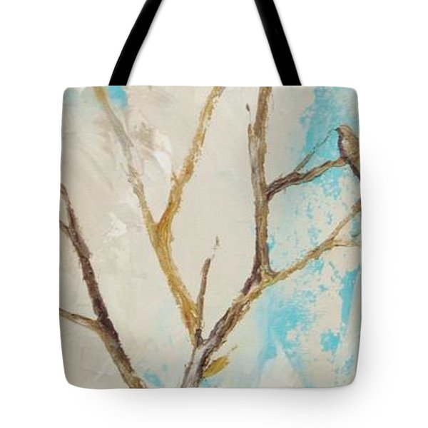 Tote Bag featuring the painting Winter Birds 2 by Dina Dargo