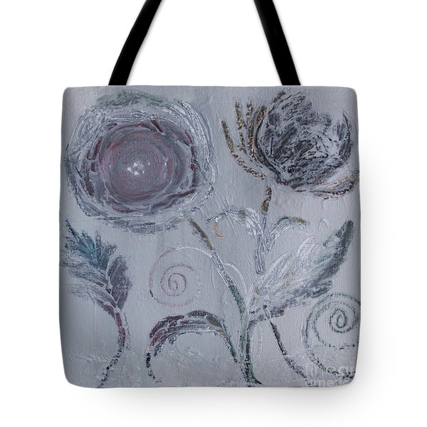 Tote Bag featuring the painting Winter Blooms by Robin Maria Pedrero
