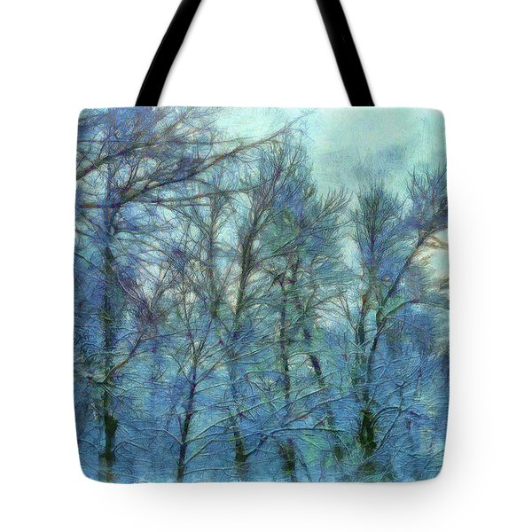 Winter Blue Forest Tote Bag