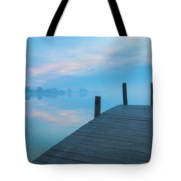 Tote Bag featuring the photograph Winter Blues by Davor Zerjav