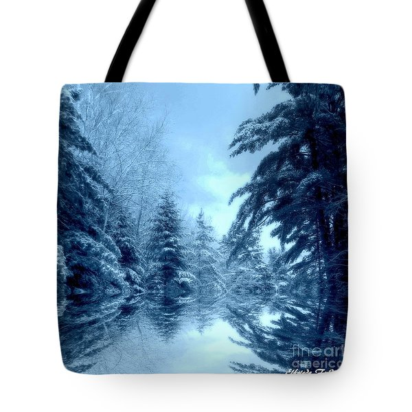 Winter Blues Tote Bag