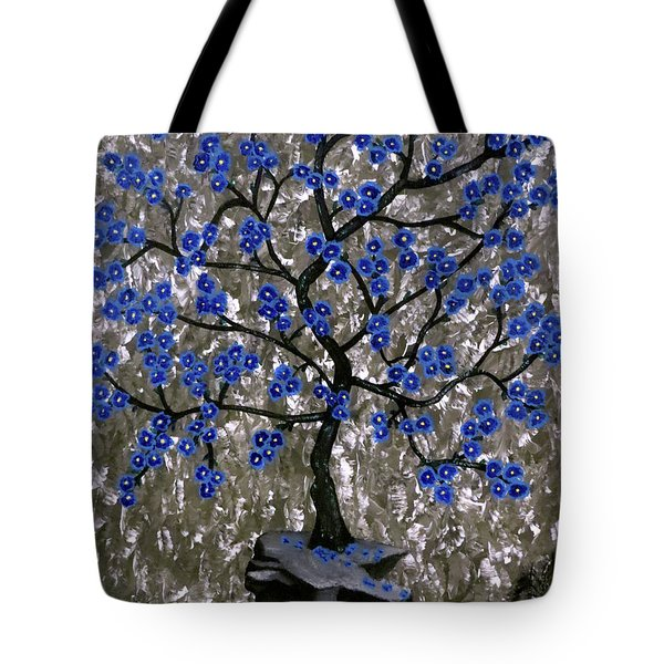 Tote Bag featuring the painting Winter Blues by Teresa Wing