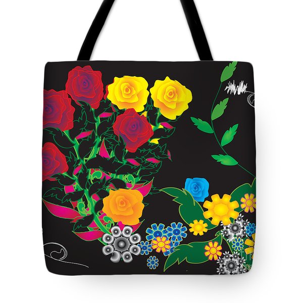 Winter Bouquet Tote Bag by Kim Prowse