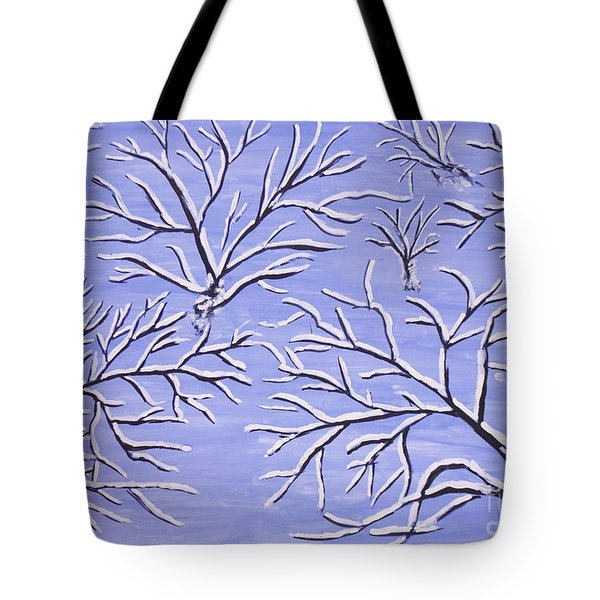 Winter Branches, Painting Tote Bag