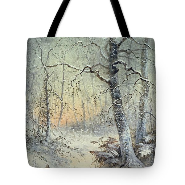 Winter Breakfast Tote Bag
