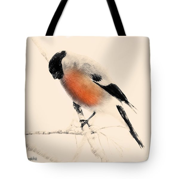 Winter Bullfinch Tote Bag