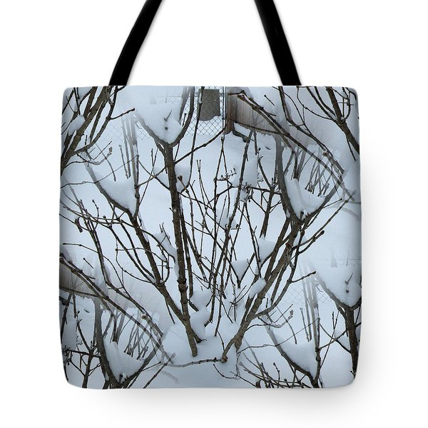 Winter Bush Tree Tote Bag