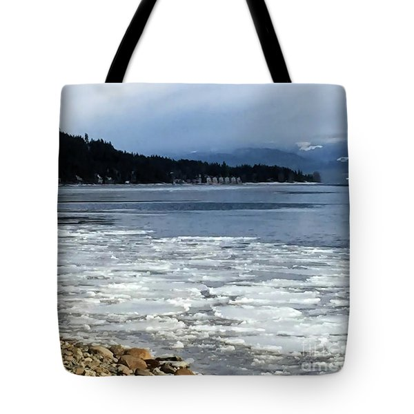 Tote Bag featuring the photograph Cottage Life In Winter by Victor K