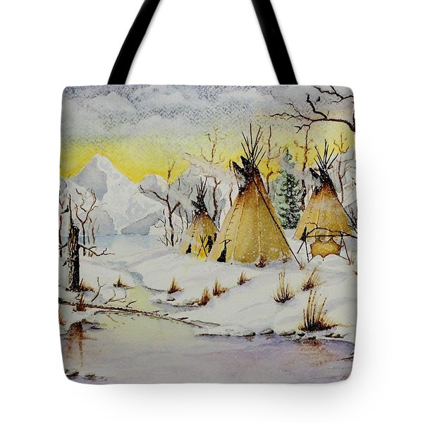 Winter Camp Tote Bag by Jimmy Smith