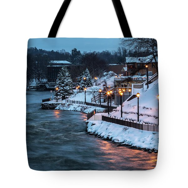 Tote Bag featuring the photograph Winter Canal Walk by Everet Regal
