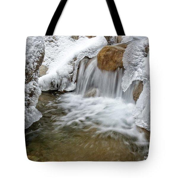 Winter Cascade Nh Tote Bag