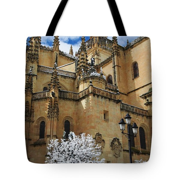 Winter Cathedral Tote Bag