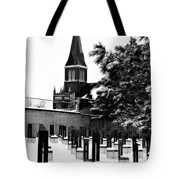 Winter Chairs Tote Bag by Lana Trussell