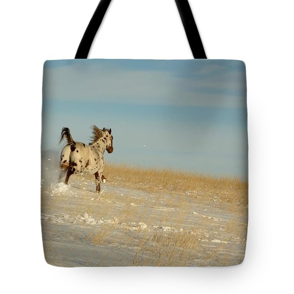 Winter Charger Tote Bag