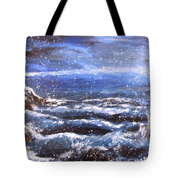 Winter Coastal Storm Tote Bag by Jack Skinner