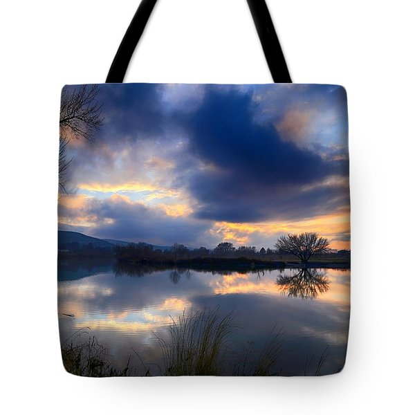 Winter Colors At Sunset Tote Bag