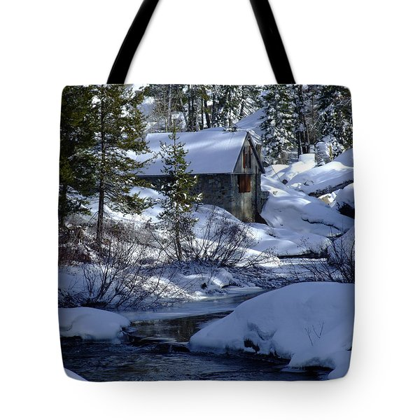 Winter Cottage Tote Bag
