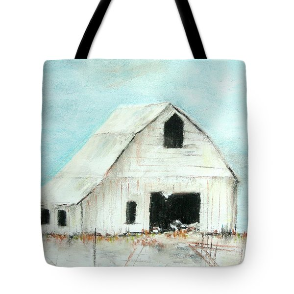 Winter Country Barn Tote Bag