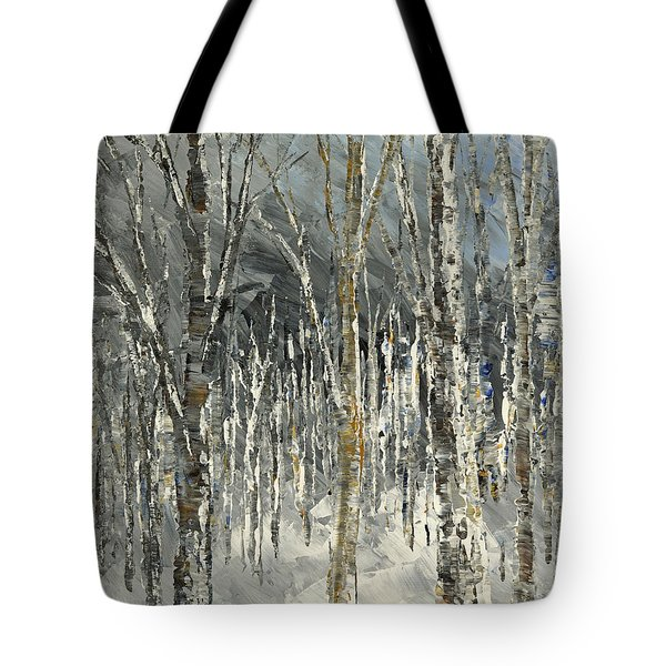 Tote Bag featuring the painting Winter Country by Tatiana Iliina