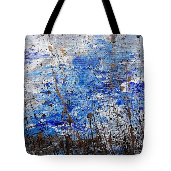 Tote Bag featuring the painting Winter Crisp by Jacqueline Athmann