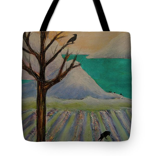 Winter Crows Tote Bag