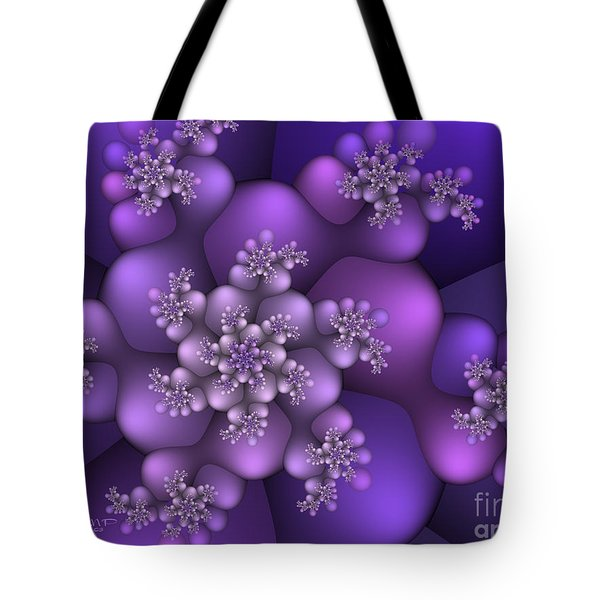 Winter Crystals Tote Bag by Jutta Maria Pusl