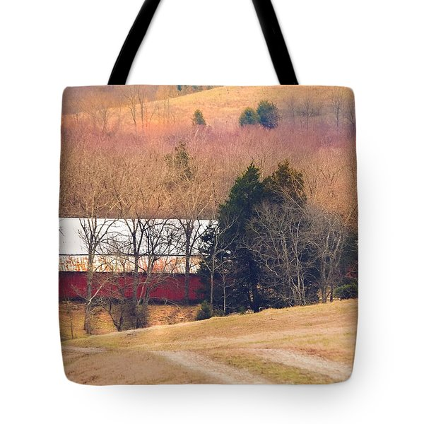 Tote Bag featuring the photograph Winter Day At The Farm by Debbie Karnes
