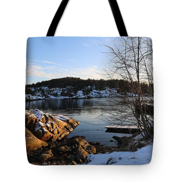 Winter Day By The Oslo Fjords, Norway.  Tote Bag