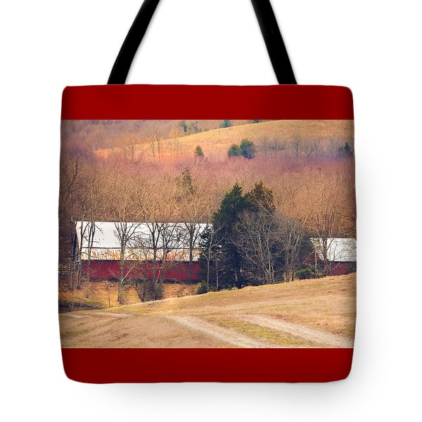 Winter Day On A Tennessee Farm Tote Bag