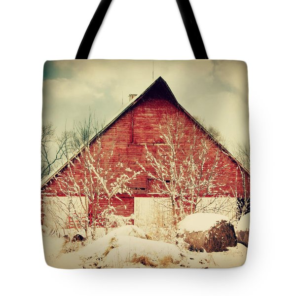 Winter Day On The Farm Tote Bag