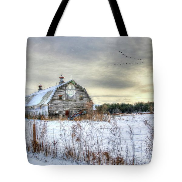 Winter Days In Vermont Tote Bag by Sharon Batdorf