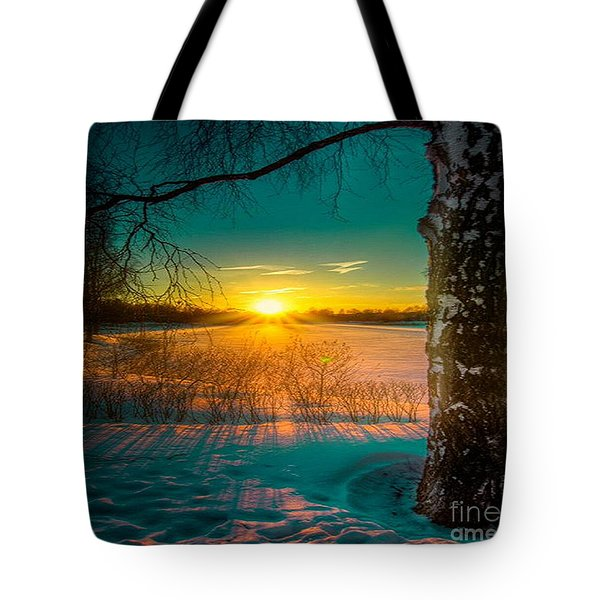 Winter Delight In British Columbia Tote Bag