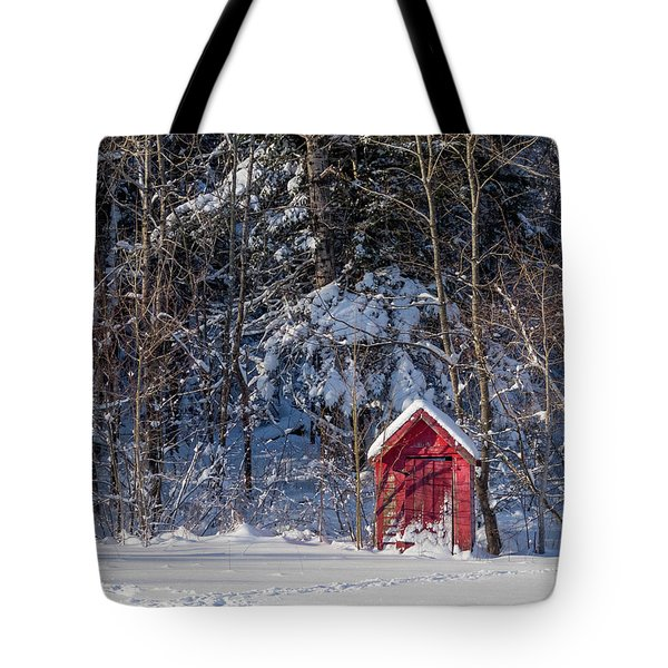 Winter, Down East Maine  Tote Bag