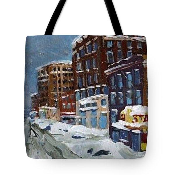Winter Downtown Tote Bag by Rodger Ellingson