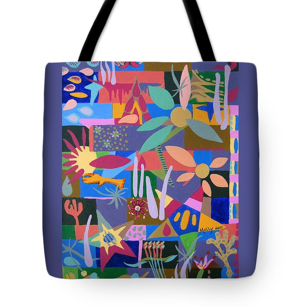 Winter Dream Of Flowers Tote Bag