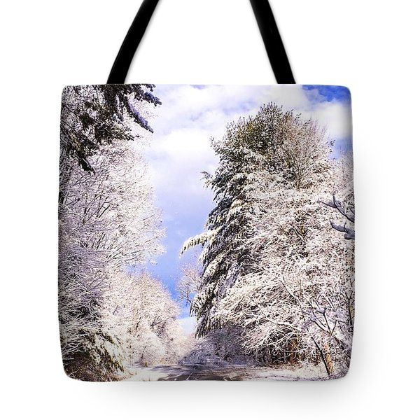 Winter Drive Tote Bag