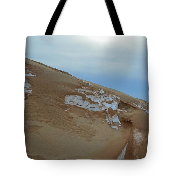 Tote Bag featuring the photograph Winter Dune by SimplyCMB