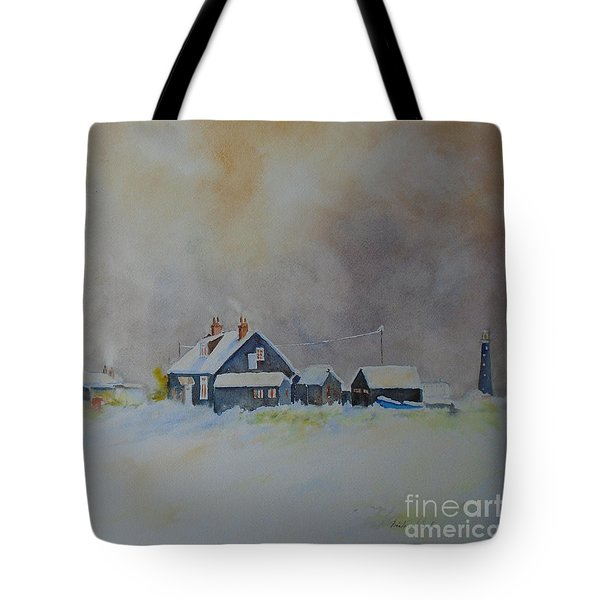 Winter Dungeness Tote Bag by Beatrice Cloake