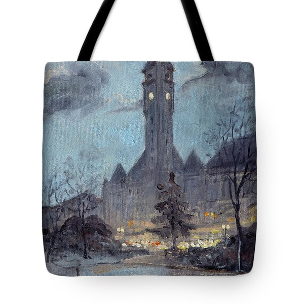 Winter Dusk - Union Station Tote Bag