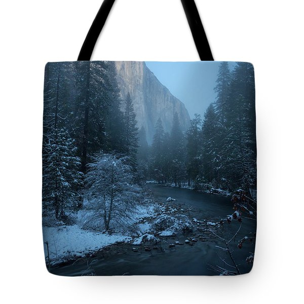 Winter El Cap  Tote Bag