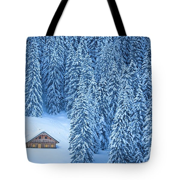 Winter Escape Tote Bag by JR Photography