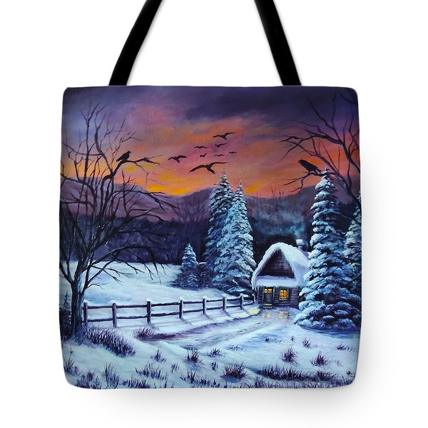 Winter Evening 2 Tote Bag