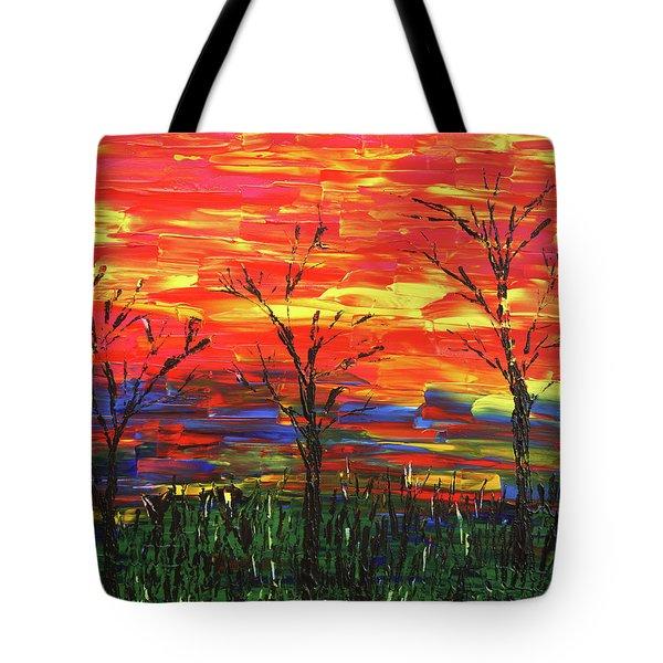 Winter Evening Tote Bag by Erik Tanghe