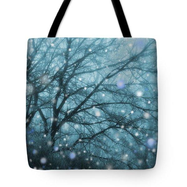 Winter Evening Snowfall Tote Bag