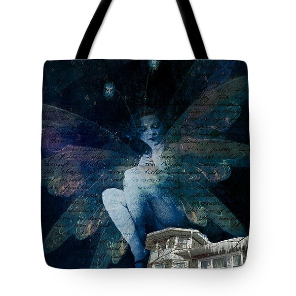 Tote Bag featuring the digital art Winter Fairy by Delight Worthyn