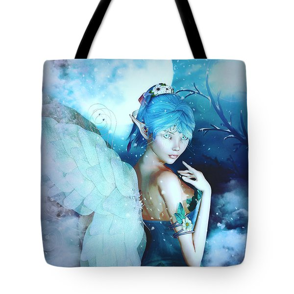 Winter Fairy In The Mist Tote Bag