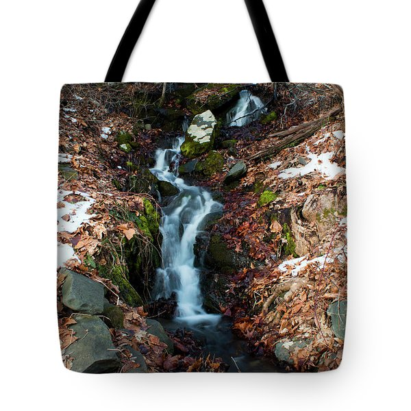 Winter Falls At Franny Reese Tote Bag by Jeff Severson