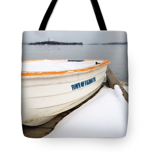 Tote Bag featuring the photograph Winter, Falmouth, Maine  -18674 by John Bald